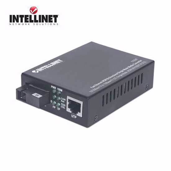 INTELLINET Fast Ethernet WDM Bi-Directional SM Media Converter 1