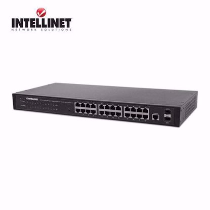 INTELLINET 24-Port Web-Managed Gigabit Ethernet Switch, 2 SFP